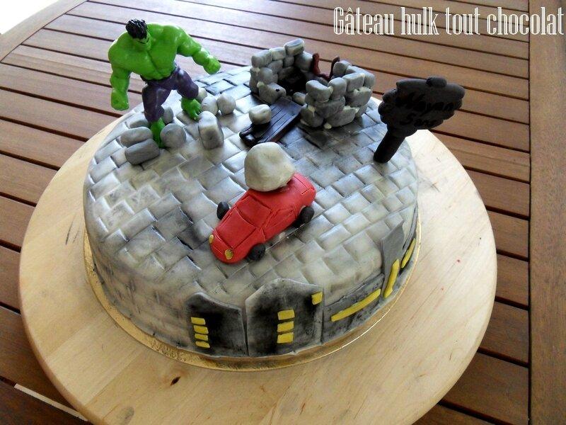 gâteau hulk tout chocolat