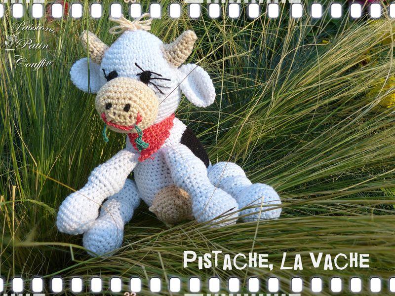 modèle tricot doudou vache