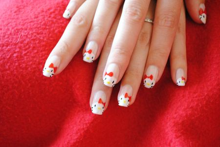 nail art hello kitty (6)