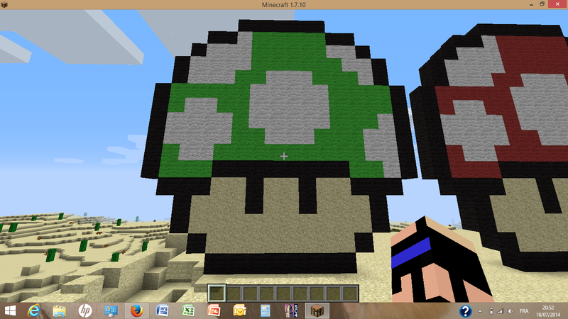 Pixel art mario mon tuto minecraft - Site de construction minecraft ...