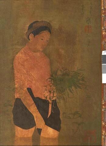Nguyen Phan Chanh, (Vietnam 1892 - 1984), Femme dans une rizière / Repiqueuse de riz