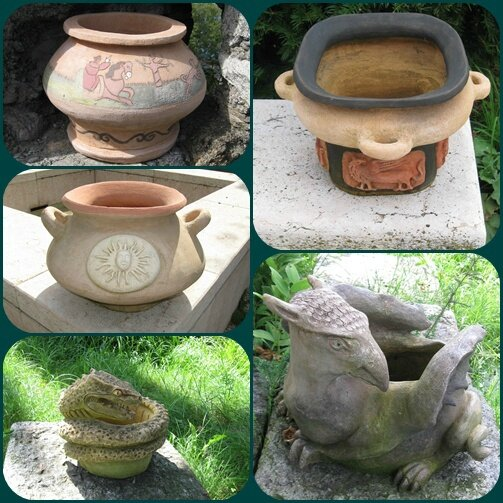 les vases du jardin médiéval