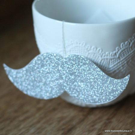 sachet de thé moustache glitter my sweet boutique