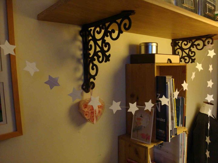 Guirlande étoiles blanches papier