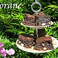 Brownie aux amandes fort en chocolat