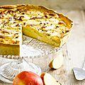 Quiche aux pommes et chèvre : recette de cyril lignac