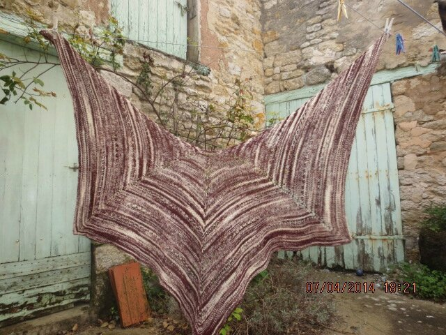 Châle en tricot
