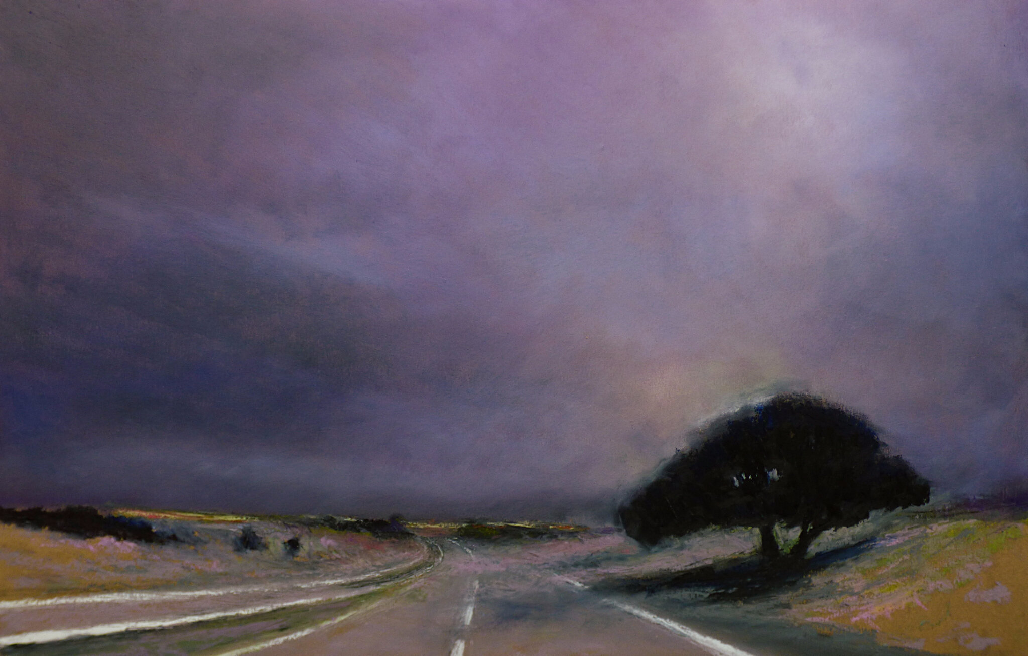 K'nowhere 82, aout 2017, pastel à l'huile, 48 x 32 cm