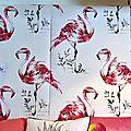 09 papier peint flamant rose