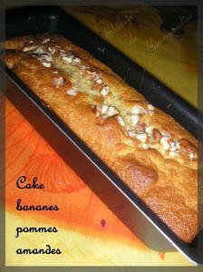 Cake banane pommes amande2