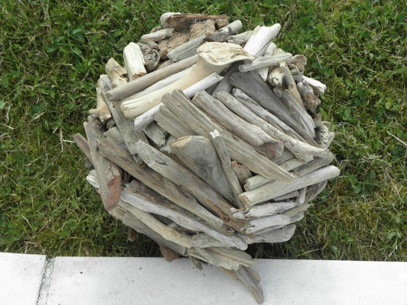 Boule en bois flotte les creations d 39 isa for Creation objet en bois flotte