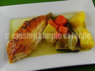 poulet rôti et ses légumes 06