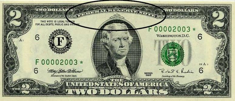 2 dolara izdana od FEDa