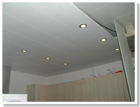 Schema pose lambris pvc plafond for Pose d un plafond en lambris pvc