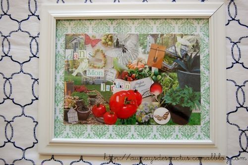 Collage dans mon jardin Au pays des Cactus