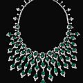 Impressive emerald and diamond necklace, bulgari, circa 1970