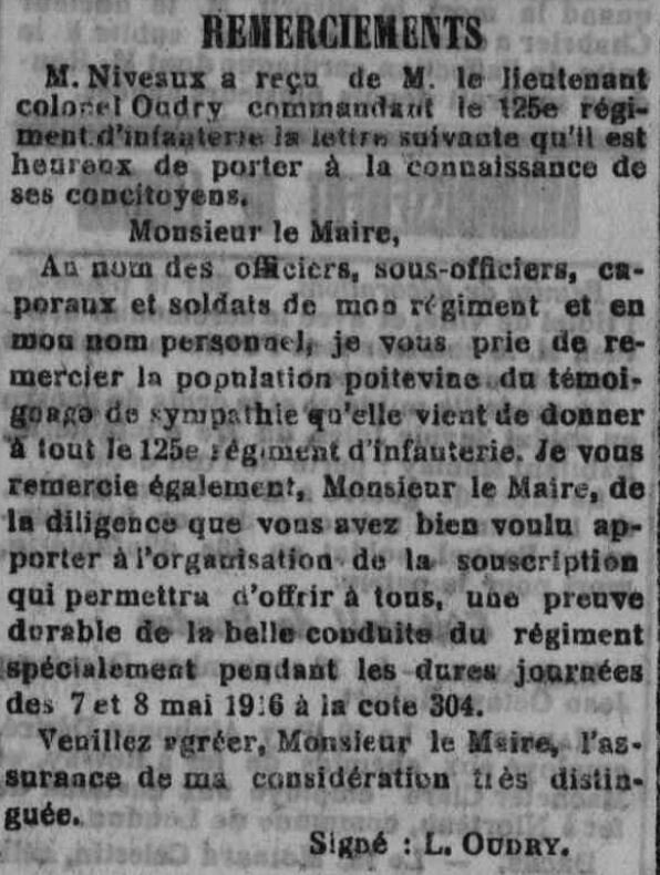 lettre col oudry