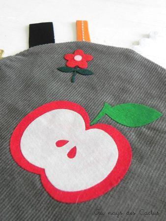 Soleil doudou pomme Au pays des Cactus 3