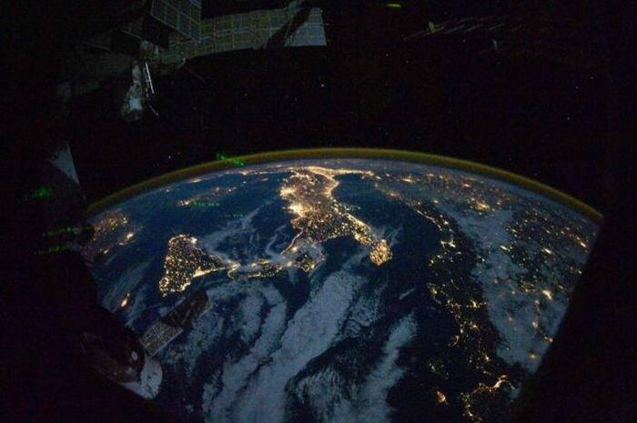 pollution lumineuse vue de l espace