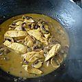 Petite fricassée de poulet au safran