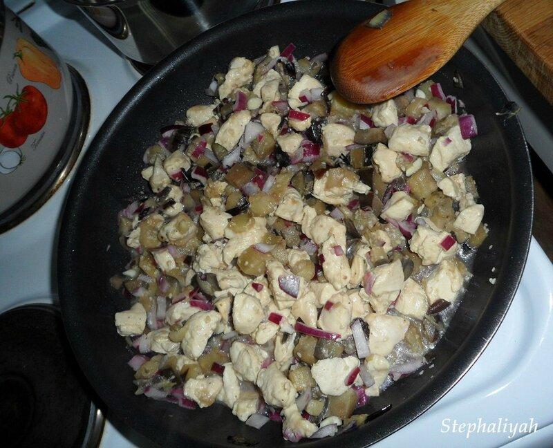 Nouilles soba, aubergines et poulet - 19 mars 2016