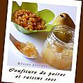 Confiture de poires aux raisins secs