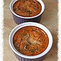 Flans à la tomate et au basilic
