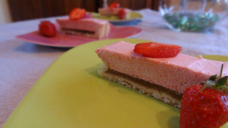 dessert tarte bavaroise fraise basilic 2