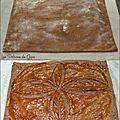 Feuilleté cacao au confit de canard et échalotes fondantes