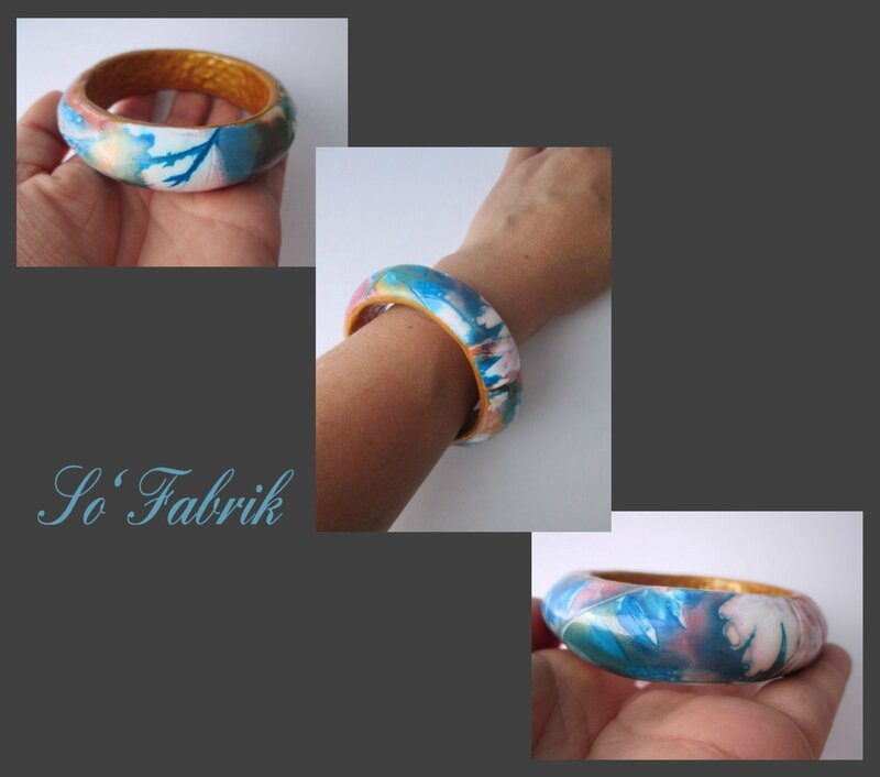 Couleurs d'automne le bracelet porté