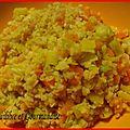 Poëlée boulgour, lentilles corail, légumes