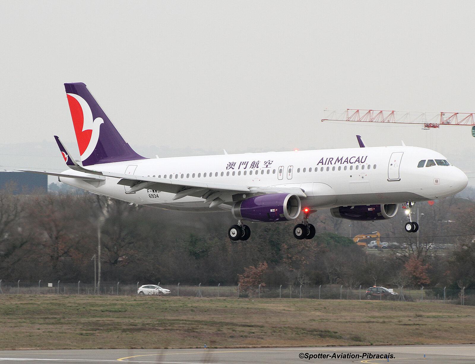 A roport toulouse blagnac tls lfbo air macau airbus a320 232 wl b mcf f wwdf msn 6934 - Aeroport blagnac adresse ...