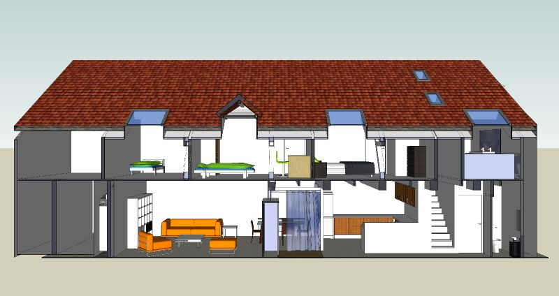 une curie st val ry en caux transform e en logement permis de construire en cours d. Black Bedroom Furniture Sets. Home Design Ideas