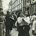 Paris - Rue de Nantes (19e), le 14 juillet 1955. Une photo de Robert Doisneau.