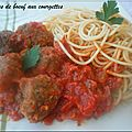 Boulettes de boeuf aux courgettes
