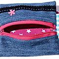 30. jean, étoilé fuchsia - passant ceinture - intérieur