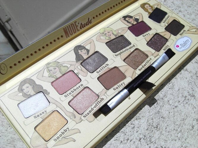 Nude'tude the balm palette princesse affreuse swatches (4)