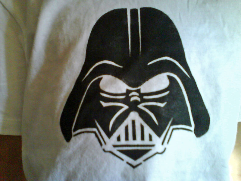 T shirt star wars dark vador le coin d 39 isma l - Pochoir star wars ...
