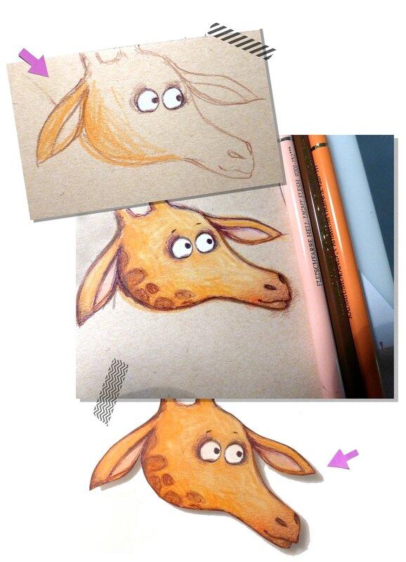 etapes girafe