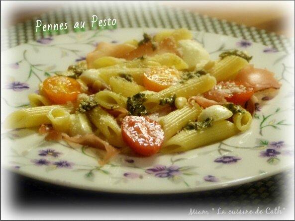 """ღ """" Miam """" Pennes au Pesto ( maison )"""