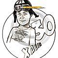 Caricature motard whisky - cadeau 30 ans