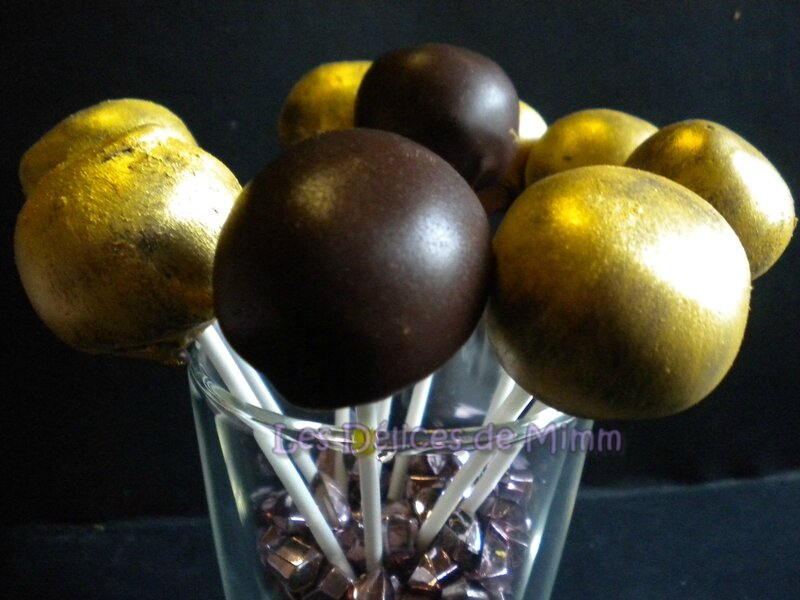 Cake pops dorés au foie gras et au chocolat 3