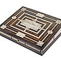 An italian engraved bone and rosewood writing casket, 17th ct