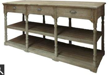 Console en bois c rus meubles et d coration amadeus au for Table de drapier ancienne