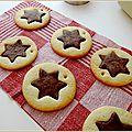 Biscuits étoile vanille et chocolat