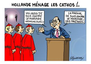hollande et les cathos web