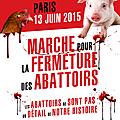 Marche pour la fermeture des abattoirs 2015