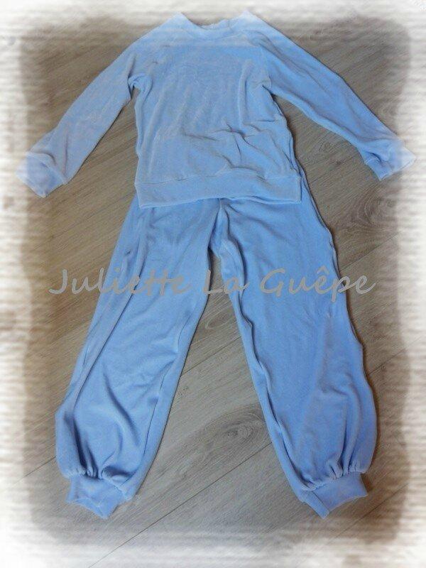 Pyja chaudoux bleu