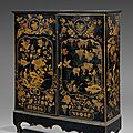 Armoire basse en laque du Japon, Hollande, XVIIIme sicle