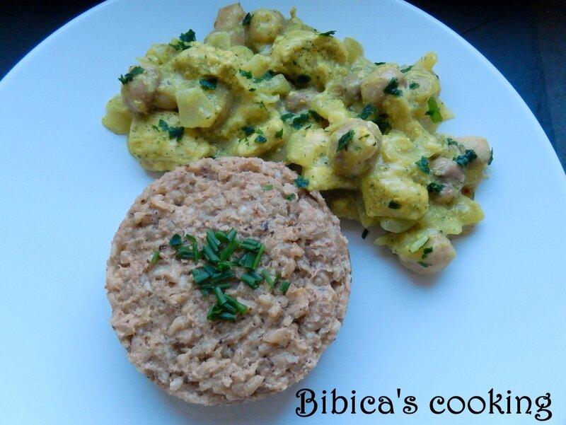 Dinde aux oignons et curry de Madras